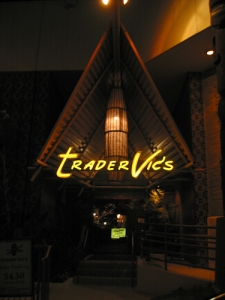 Entry at the Beverly Hills Trader Vic's