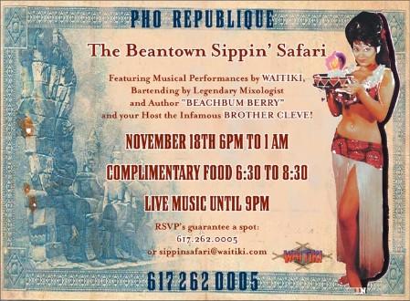 Beantown Sippin' Safari