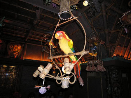 Jose at the Enchanted Tiki Room in Anaheim, photo by keithesaan