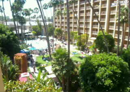 View of the grounds right now, courtesy of the Tiki Central Live Feed of Tiki Oasis