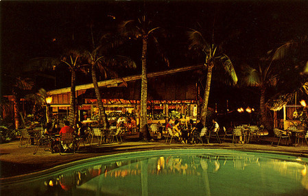 Poolside at the Tahitian Lanai, from the collection of Mimi Payne at Arkiva Tropika