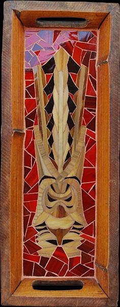 Tiki Tray, by Velvet Glass