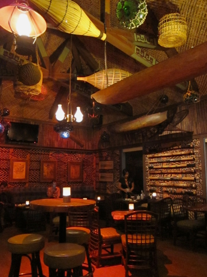 The bar at Trader Vic's Emeryville