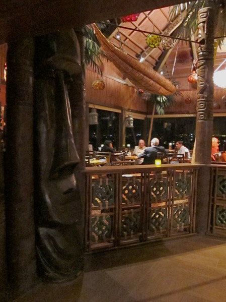 The dining room at Trader Vic's Emeryville