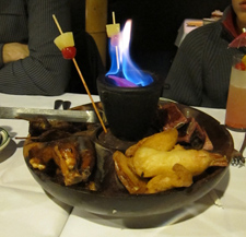 A flaming pupu platter