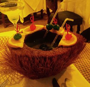 Drink served in a hairy coconut