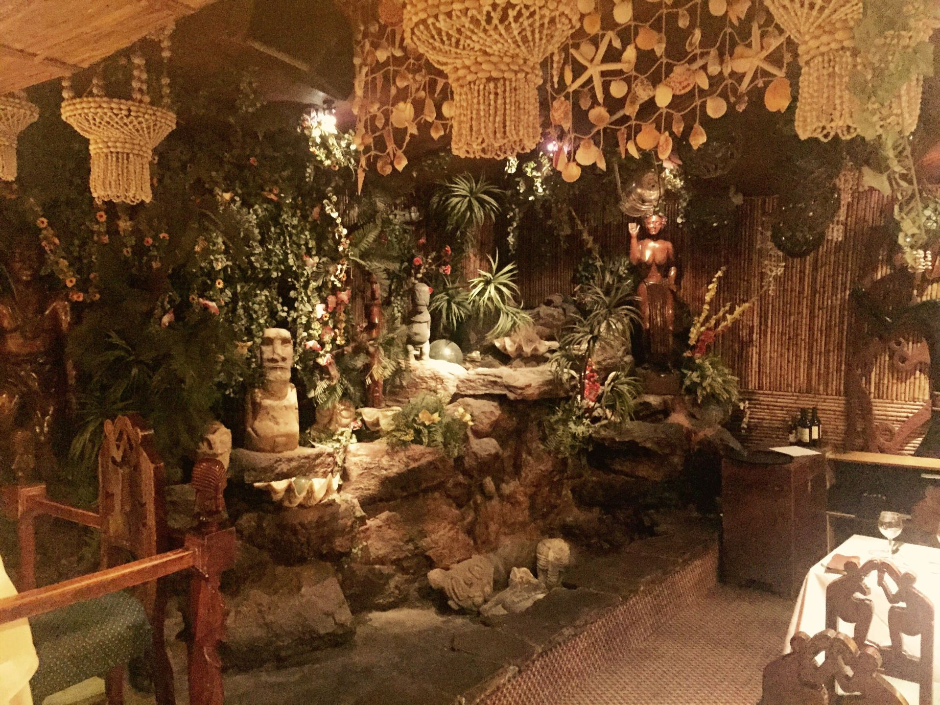 The interior at Bali Hai in Santiago, Chile
