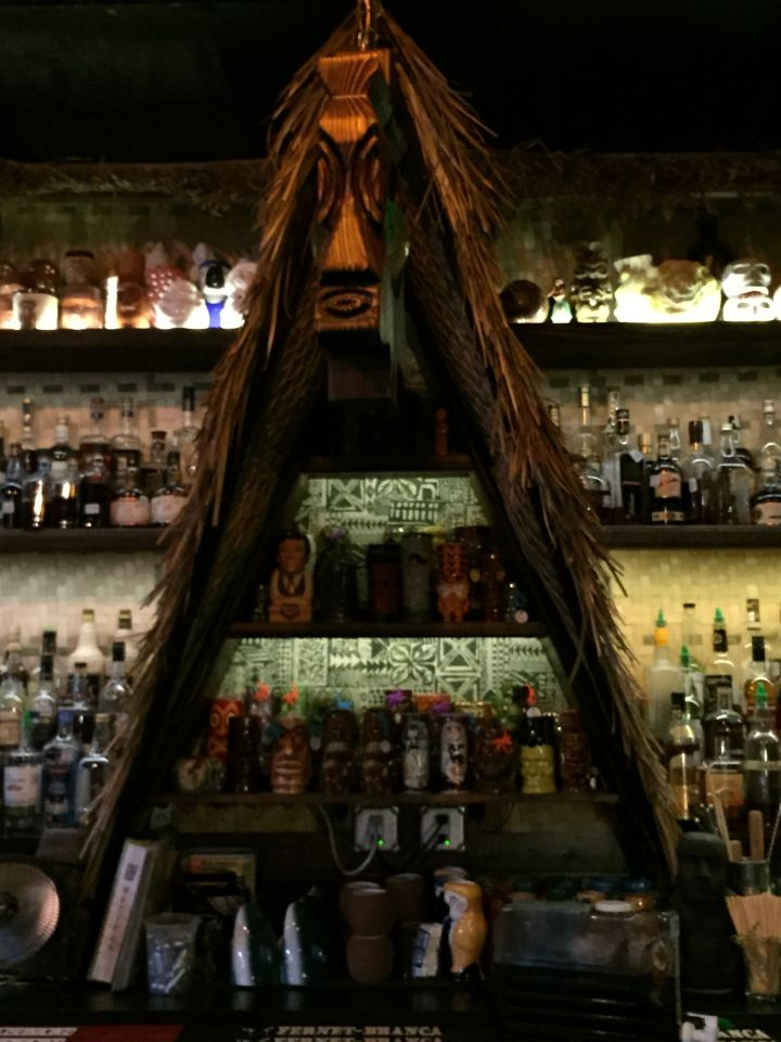 A-frame behind the bar at Lei Low