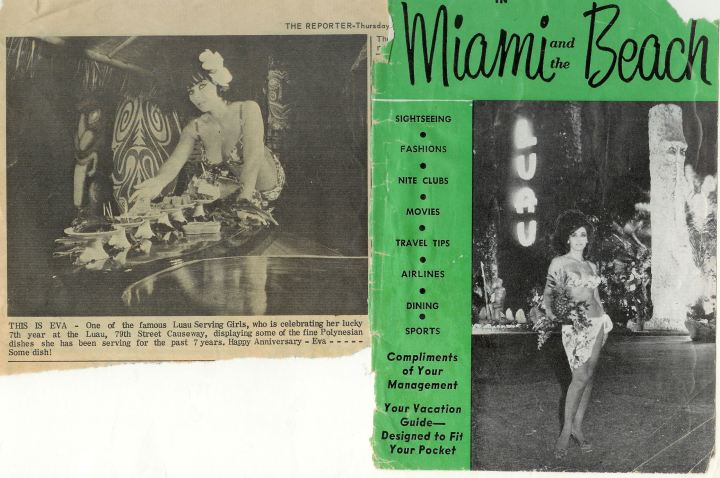 Two clippings featuring Eva