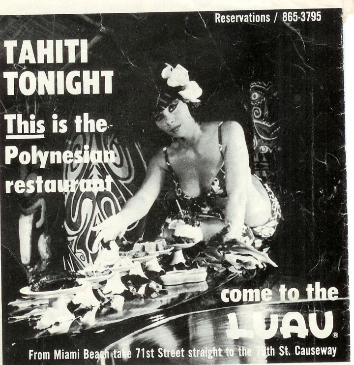 Luau magazine ad from circa 1965