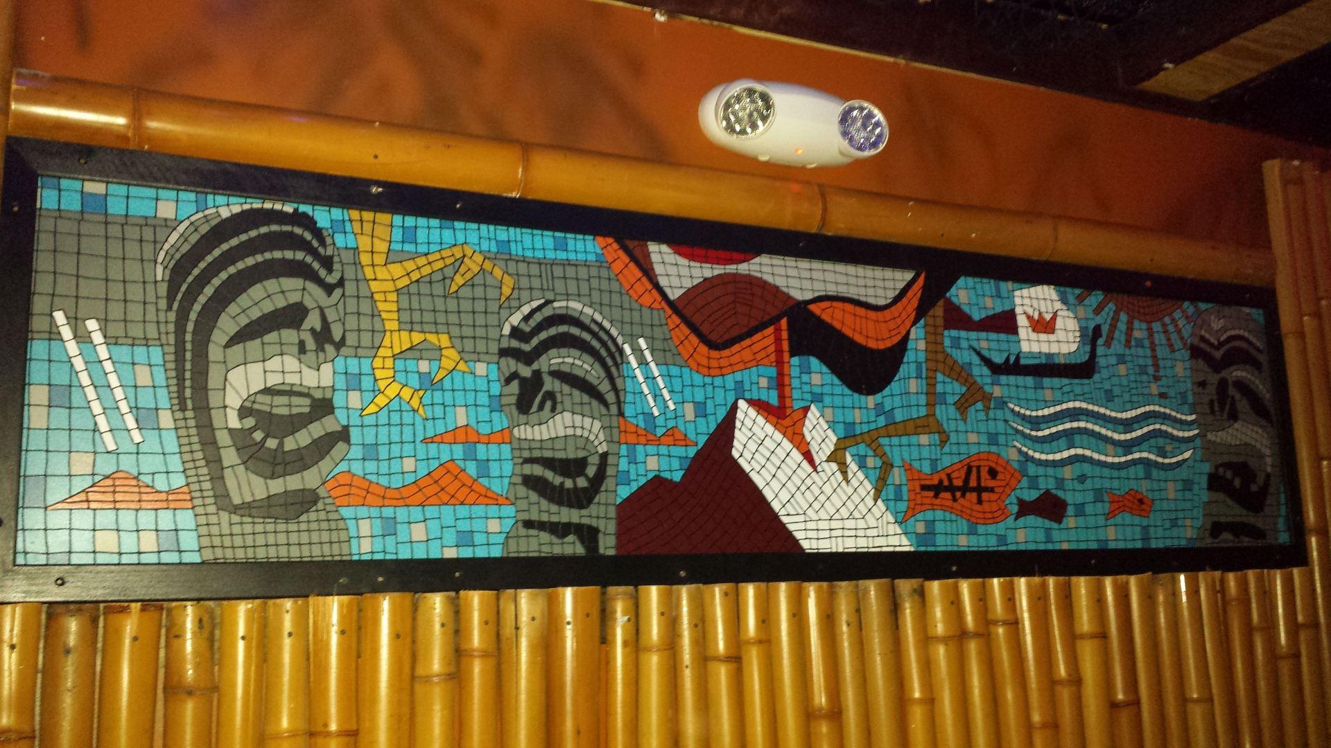 Tile mosaic at Lucky Joe's in Milwaukee