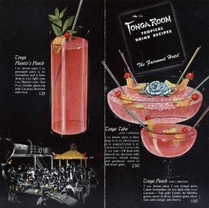 Circa 1940s Tonga Room drink menu, from the collection of Swanky