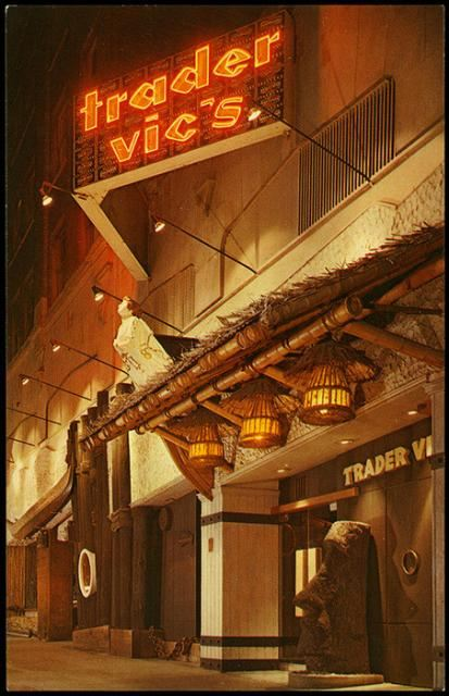 Postcard from Trader Vic's in Seattle, circa 1960s
