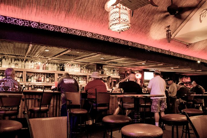 The bar at Purple Orchid in El Segundo, photo by Fuzzy