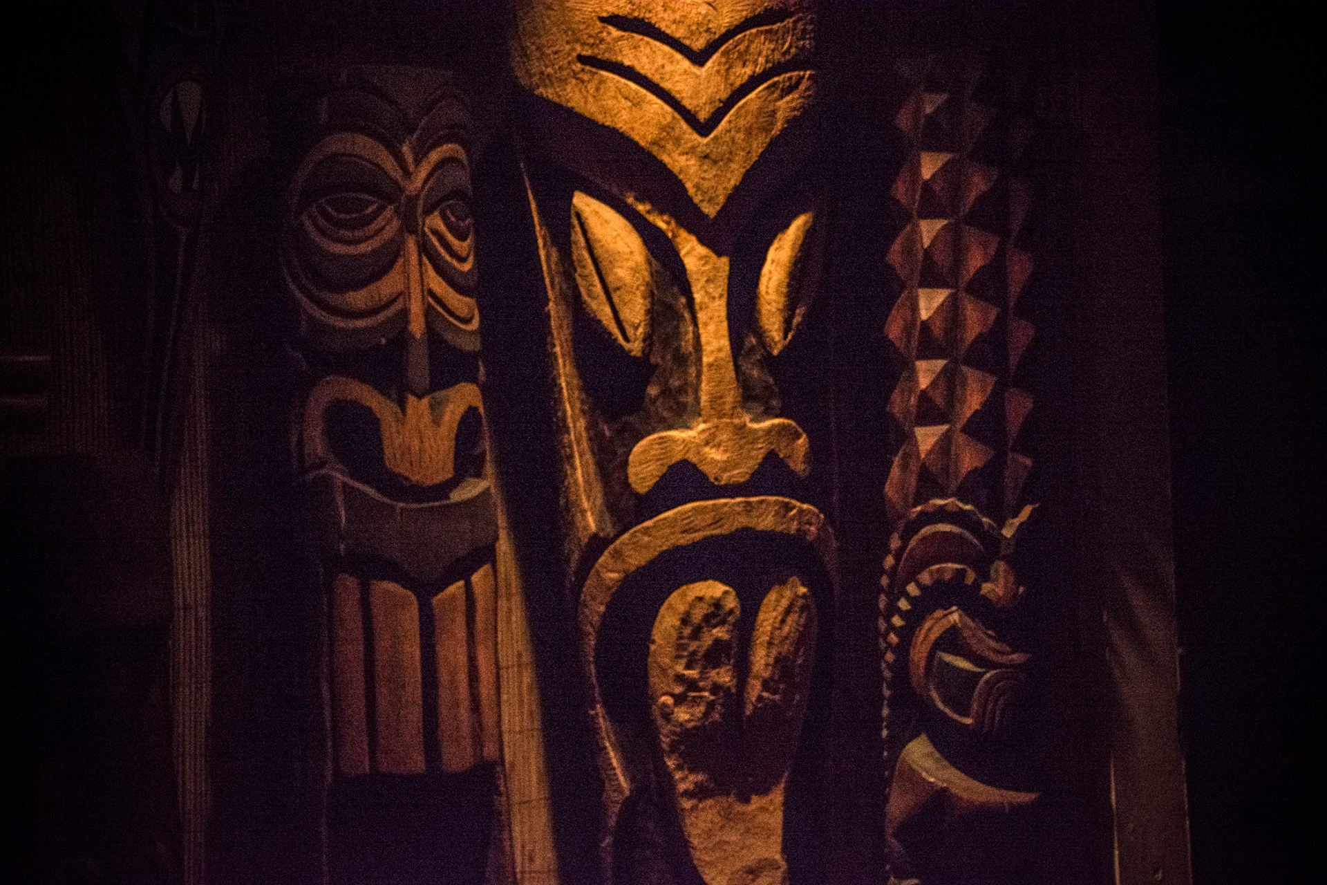 Tikis at Purple Orchid, photo by Fuzzy