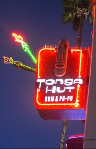 Sign for Tonga Hut in Palm Springs