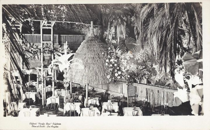 Wild structures and foliage at Clifton's Pacific Seas, from the collection of Mano-Tiki-Tia