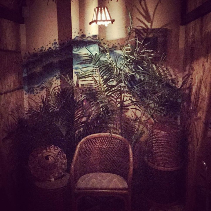 Seating alcove at Concrete Jungle in San Antonio