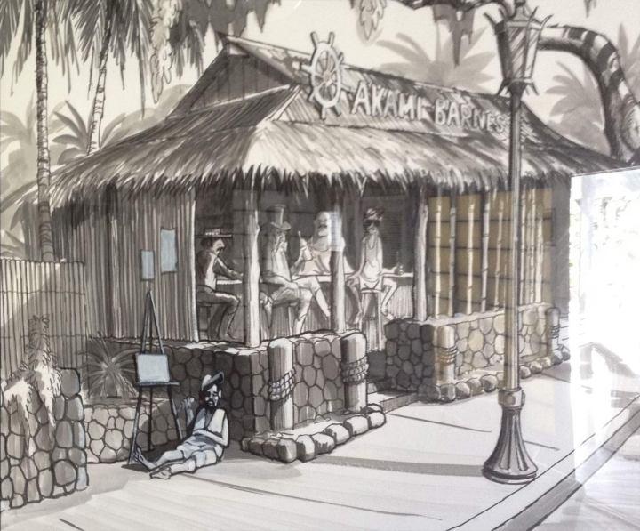 Painting of Akamai Barnes in Kailua-Kona, photo from Critiki member Akamai
