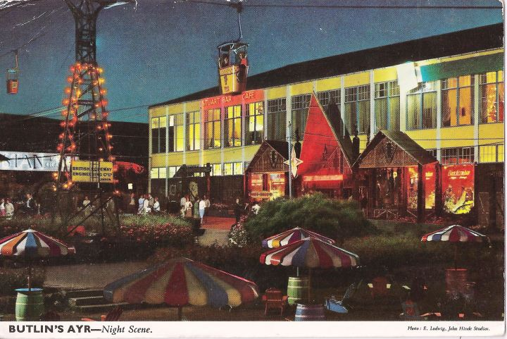 Butlin's in Ayr, with A-frame entrance to the Beachcomber Bar