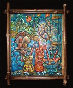 Art created for Howie's Tiki by Ken Ruzic