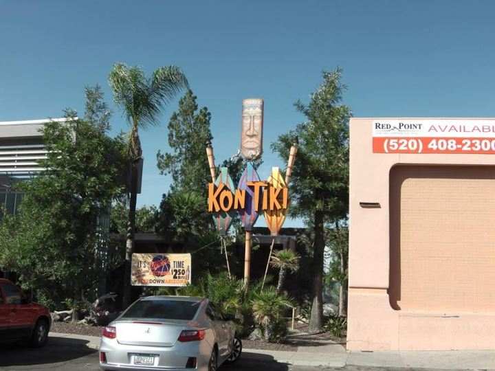Street view of Kon Tiki Lounge in Tucson, from Critiki member internalnoise