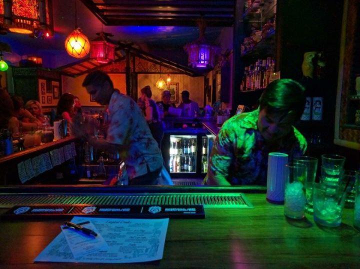 Bartenders at Tiki-Ko in Bakersfield, photo by Critiki member Pelvis