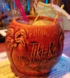 Souvenir Tiki-Ko coconut mug, photo by Critiki member Tiki Pants.
