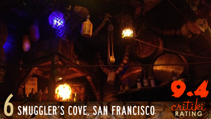 6, Smuggler's Cove, San Francisco, 9.4