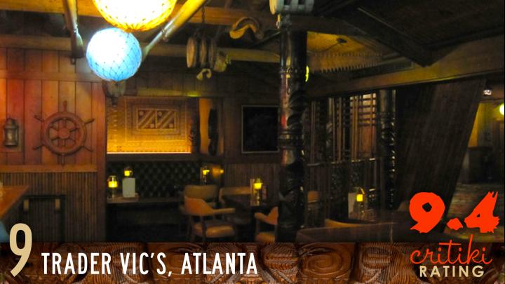 9, Trader Vic's, Atlanta, 9.4