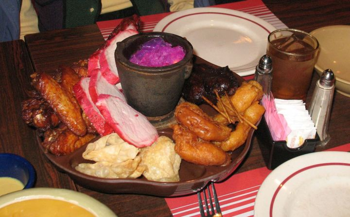 Flaming Pu-Pu Platter at Kowloon in Saugus, Massachusetts