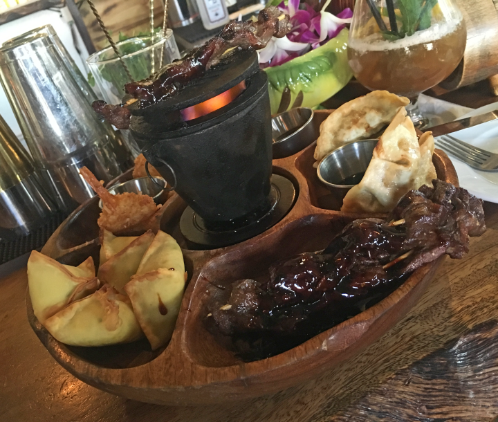 Flaming Pu-Pu Platter at Longitude in Oakland