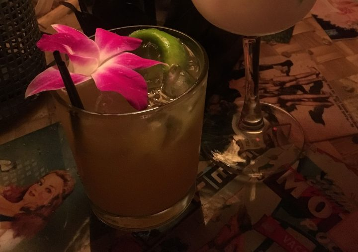 Drink at Bootlegger Tiki in Palm Springs, CA, photo by Humuhumu