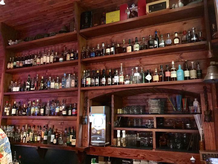 Behind the bar at Pagan Idol in San Francisco, photo by Critiki member KevinCrossman