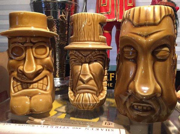 Tiki mugs from Politiki, photo by Fritz Hahn