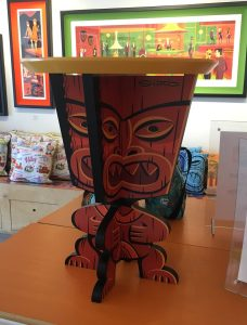 Tiki side table at the Shag Store in Palm Springs