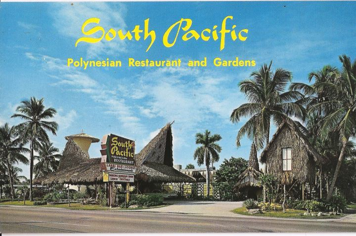 Postcard from South Pacific in Hallandale, Florida, from the collection of Critiki member Dustycajun