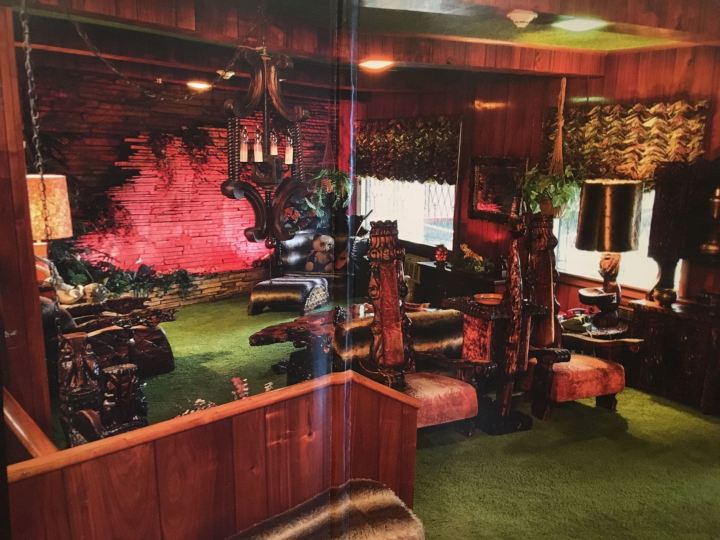 Elvis Witco-stuffed Jungle Room at Graceland in Memphis