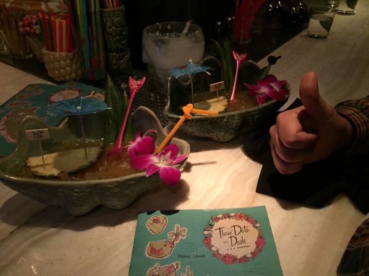 Bowl drinks at Three Dots and a Dash in Chicago, photo by Critiki member Hang10Tiki