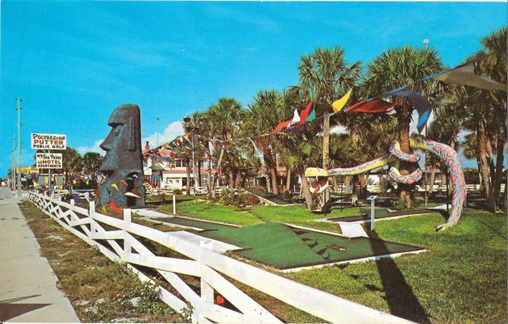 Scorecard from Polynesian Putter in St. Pete Beach, from the collection of Dustycajun