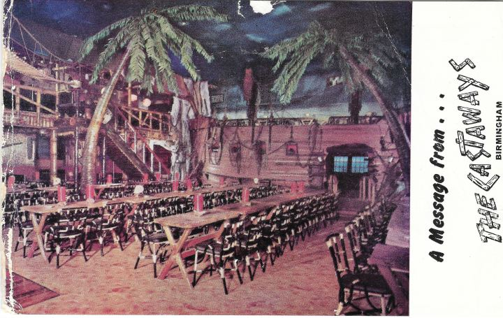 Postcard from The Castaways, Birmingham, UK, from the collection of Dustycajun