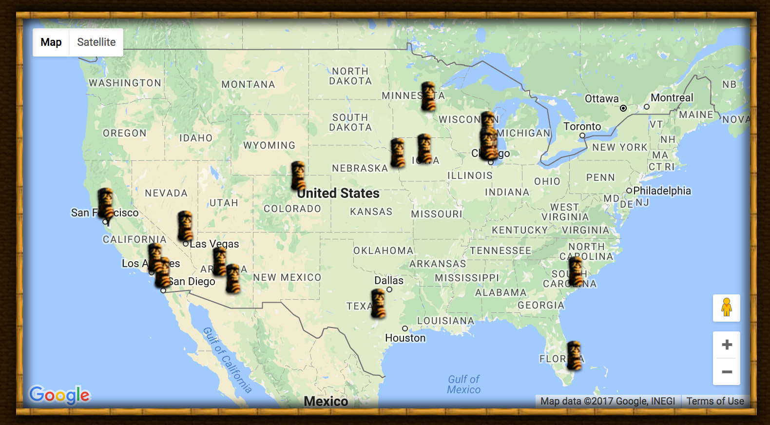 New Feature A Map of All the Tiki Bars Youve Visited Critiki News